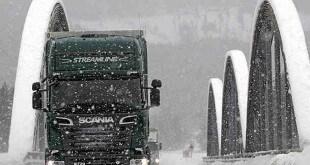 اسکانیا جاده برفی