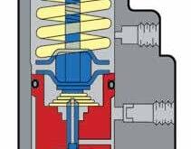 شرح ورودی ها از پایین : هوای فشرده از تانک خیس، خروج به سمت پمپ باد و تخلیه