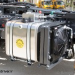 پمپ روغن نصب شده در پشت موتور کامیون رنو