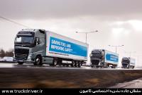 کامیون های ولوو در قالب Platooning
