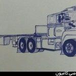 نقاشی کامیون ماک 600
