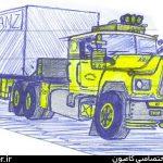 نقاشی کامیون کشنده ماک جفت