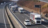 طرح حرکت کاروانی کامیون ها ژاپن